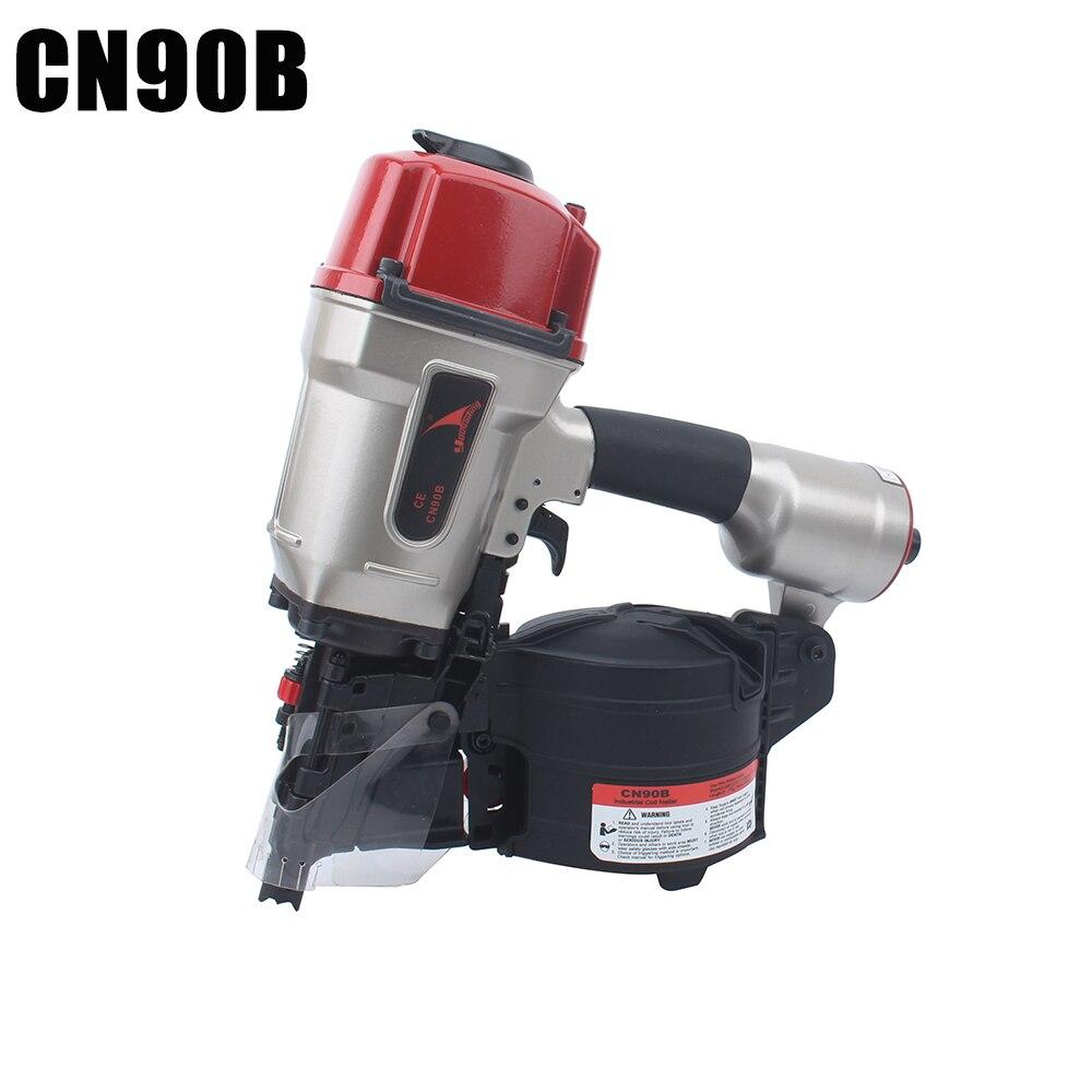 Quality YOUSAILING CN90B Pneumatic Industrial Coil Nailer Efficient Light Roll Nail gun For Pallet Making Nail Depth Adjustable