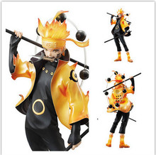 22CM Naruto Shippuden Statue Uzumaki Six Paths Sage Figure Japanese Anime New