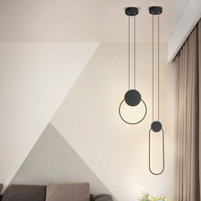 Modern pendant lights minimalist restaurant /coffee bar/living room/bedside pendant lamp background wall long line hang lamp(China)