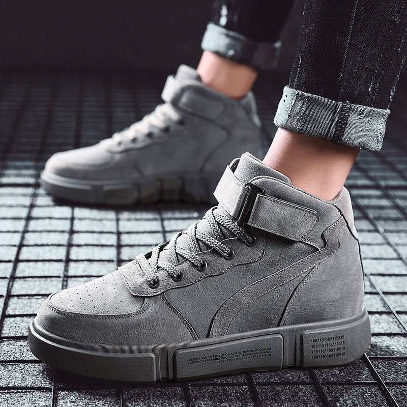 Autumn Winter <font><b>Mens</b></font> <font><b>Shoes</b></font> Casual <font><b>Men</b></font> High Top Sneakers Male Warm Comfortable Martin Boots Work Boots for <font><b>Men</b></font> Zapatos De Hombre image