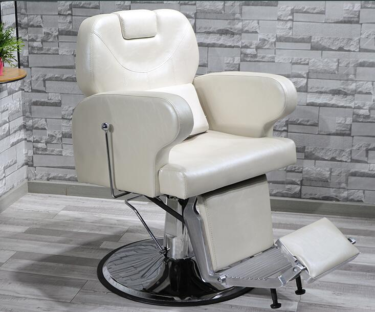 Hair Salon Chair Can Be Put Down Barber Chair Shaving Therapy Beauty Salon Chair Lift Large Chassis Cutting Hair Chair