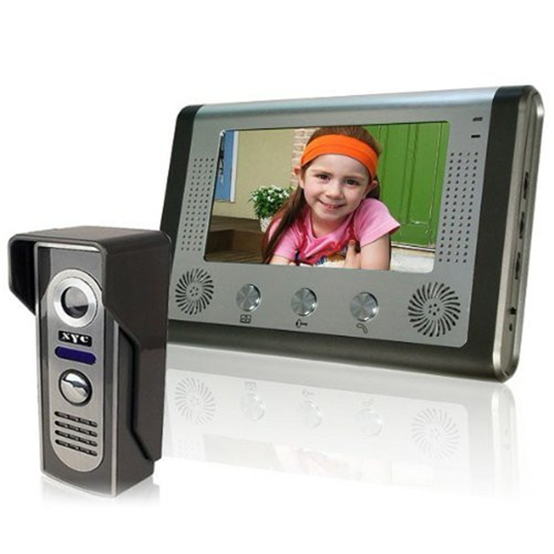 MAOTEWANG 7 Inch Color Video Door Phone Doorbell Intercom System  Video Door Entry Panel Intercoms For Private Home Call Panel