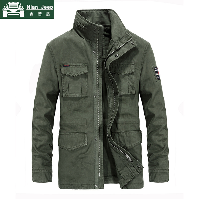 Brand Military Jacket Men High Quality Autumn Winter Outwear Cotton Cargo Multi-pocket Mid-Long Coats Male Campera Hombre M-4XL