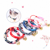 DannyKarl Cat Collar Japanese Wind Handmade Cat Bell With Insect proof Tweezers In Addition To Flea Ring Cat Brand Collar