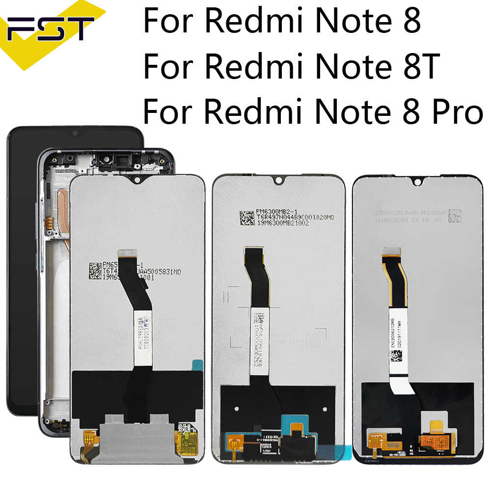 "Tela de 6.3 ""para xiaomi redmi note 8 8t, display lcd + digitalizador de toque lcd para redmi note 8 8t 8 pro"