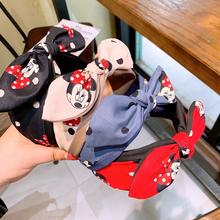 かわいいヘッドミニーヘアアクセサリー女の子ファッションストレッチヘアバンドポルカドット弓子供の誕生日プレゼント