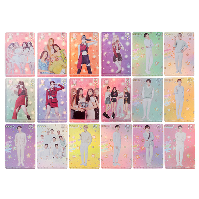 8/10Pcs/Set Blackpink EXO Photocard Kpop Transparent Card Woman Group Star DIY  Paper Photo Card