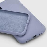 Funda de silicona líquida oficial Original para iPhone SE 2020, 7, 8, 6S, 6Plus, XS, Max, X, XR, 13, 11Pro, Max, X, 12