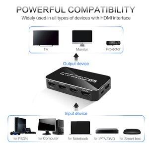 Image 2 - Kebidu Hdmi Splitter Schakelaar 2.0 4K Hdmi 2.0 Switch 4X1 4 In 1 Out Hdmi Switch Audio extractor Met Arc Voor Nintend Hdtv Voor PS4