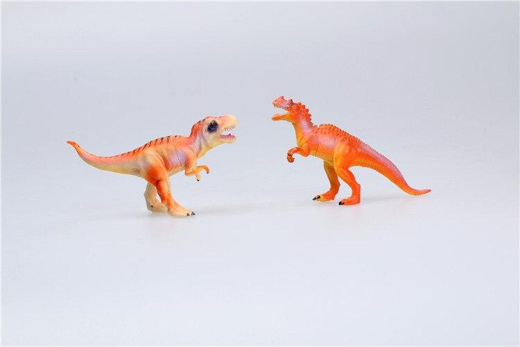 Modelo de dinosaurio simulado juguete 12-dinosaurio modelo tiranosaurio Jurásico Rex Triceratops de juguete modelo Partes niños RC coches alemán Control remoto simulación juguete Tigre tanque para niño Mini regalo