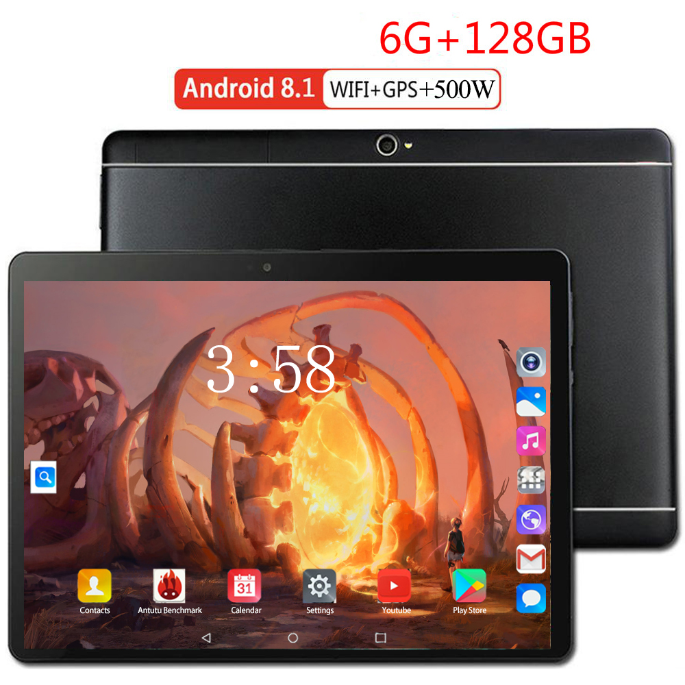 2020 New 10.1 Inch Tablet PC Octa Core 6GB RAM 128GB ROM Dual SIM Cards Android 8.0 WIFI 3G 4G FDD LTE Tablet PC 10 10.1
