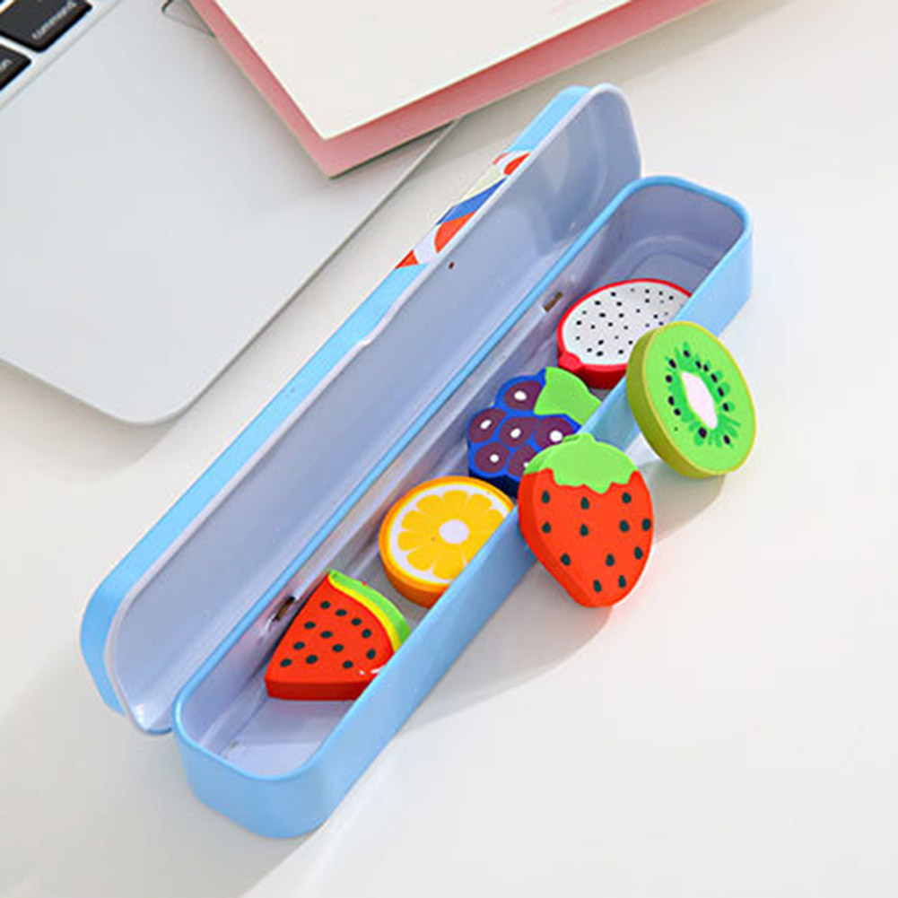 2 Pcs/set Cute Kawaii Fruit Eraser Rubber Stationery Kids Toys Gift Correction Erasers School & Office Supplies Students Erasers