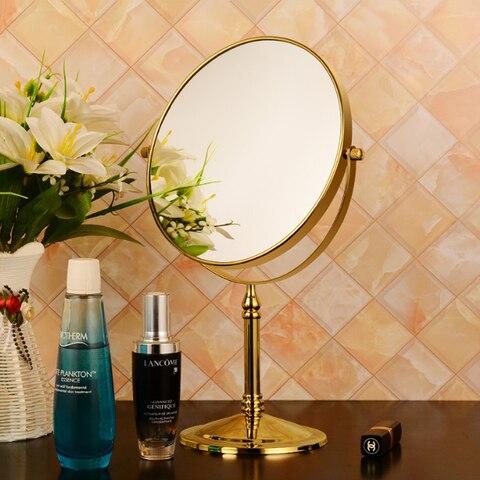 cosmetico espelho de mesa princesa lupa dupla face espelho pequeno