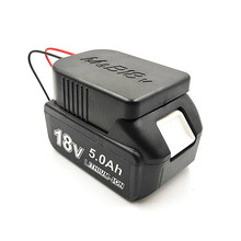 Литий ионный аккумулятор конвертер для DIY кабель выход Соединительный адаптер для Makita 18 в для Bosch 18 В литиевая батарея адаптер Аксессуары