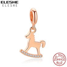 Bracelet DIY Rose-Gold 925-Sterling-Silver Charm Beads Jewelry-Making Original Fit Carousel