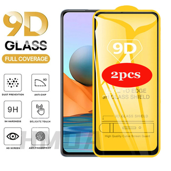 2pcs/lot 9D Full Cover Glass For Redmi Note 9s 8 9 10 pro  glass Screen Protector for Redmi Note 7 7pro 9pro note 10 glass 1