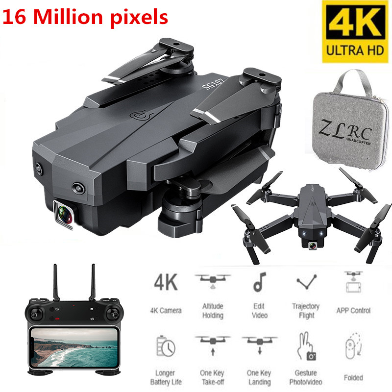 New Drone 4K With Camera HD Helicopter Optical Flow Positioning Foldable 1080P Camera Quadcopter WiFi FPV Drone RC Toys