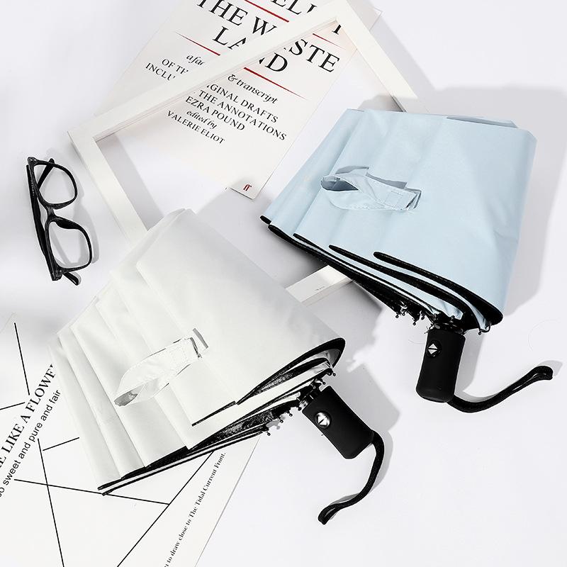 Creative Fully Automatic Folding Umbrella Vinyl UV-Protection Parasol Eight Bone Advertising Umbrella Wholesale Umbrella Customi