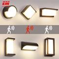 18 Вт светодиодный настенный светильник водонепроницаемый IP66 крыльцо современный светодиодный настенный светильник радар Датчик Движения ...