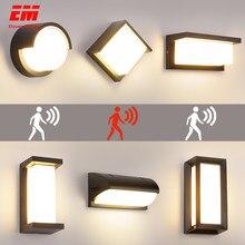 Éclairage LED d'extérieur avec détecteur de mouvement, étanche IP66, 18 W, lampe murale pour porche, cour et jardin, ZBW0001