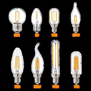 Hcnew E14 светодиодный затемняемый лампа накаливания E12 E14 220V 4 Вт 6 Вт Светодиодный светильник светодиодный нити ночной светильник люстра Светодиодный лампочки Эдисона C7 C35 T20|Светодиодные лампы и трубки|   | АлиЭкспресс