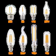 Hcnew E14 светодиодный затемняемый лампа накаливания E12 E14 220V 4 Вт 6 Вт Светодиодный светильник светодиодный нити ночной светильник люстра Свето...