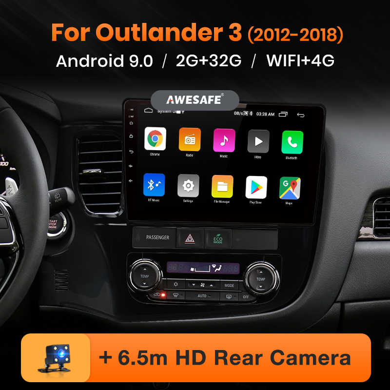 Awesafe PX9 Voor Mitsubishi Outlander 3 2012-2017 2018 2019 Auto Radio Multimedia Video Player Gps Geen 2 Din android 9.0 2 Gb + 32 Gb