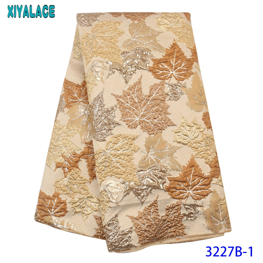 Nigerian Lace Fabric 2020 High Quality Lace New Brocade Lace Fabric Unique Design For Women Dresses KS3227B
