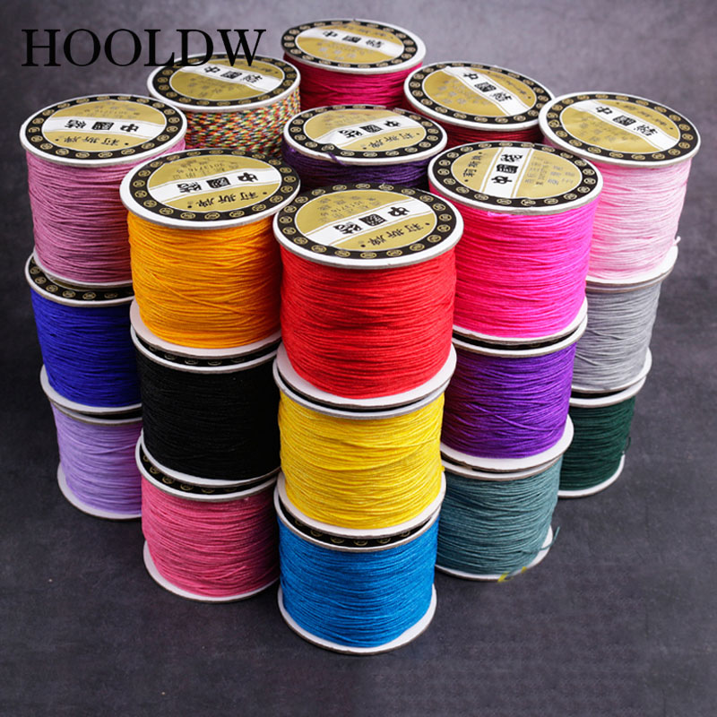 120m 2mm Mixed Waxed Cotton Cord Jewelry Making Beading Thread For Bracelet