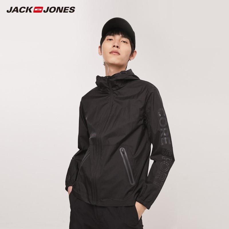 JackJones Men's Windproof Waterproof Sun-protective Hooded Sports Short Jacket 219221507