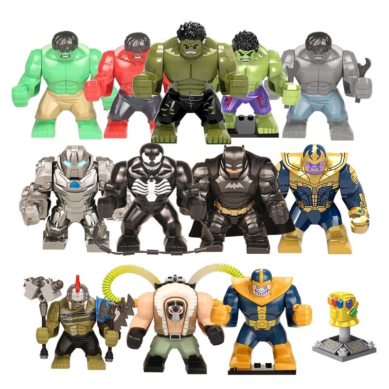 Big Size Legoing Action Figure Super Hero Avengers Captain Marvel Ant Man Wasp Building Block Hulk Grot DIY Toys For Children
