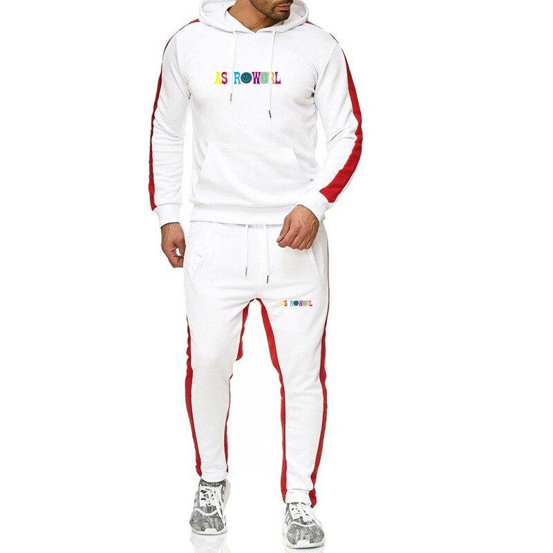 Hip Hop Singer Men And Women Astroworld Hoodie  Jogging Homme Tracksuit Men спортивный костюм мужской Sets Tops + Pants Man