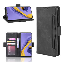 For Samsung Galaxy A51 5G Case Card Slots PU Leather and Soft TPU Wallet Flip Stand Cover for Samsung A51 5G Case Shockproof protective pu leather case w card holder slots for samsung galaxy note 3 n9000 black