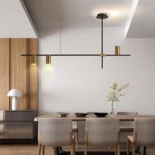 BOKT Contemporary Minimalist light Kitchen Island Ceiling Lamp Geometric Modern Linear Chandelier Lighting Fixture Living room bokt цвет кофе