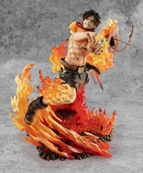 Anime One Piece Portgas D Ace MAX 15th Burining Fight Ver. Figure Model Toy