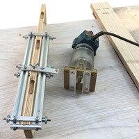 Localizador de perforación 2 en 1, conector Invisible, máquina de corte, accesorio de ranura para muebles, armario, carpintería, herramientas de bricolaje