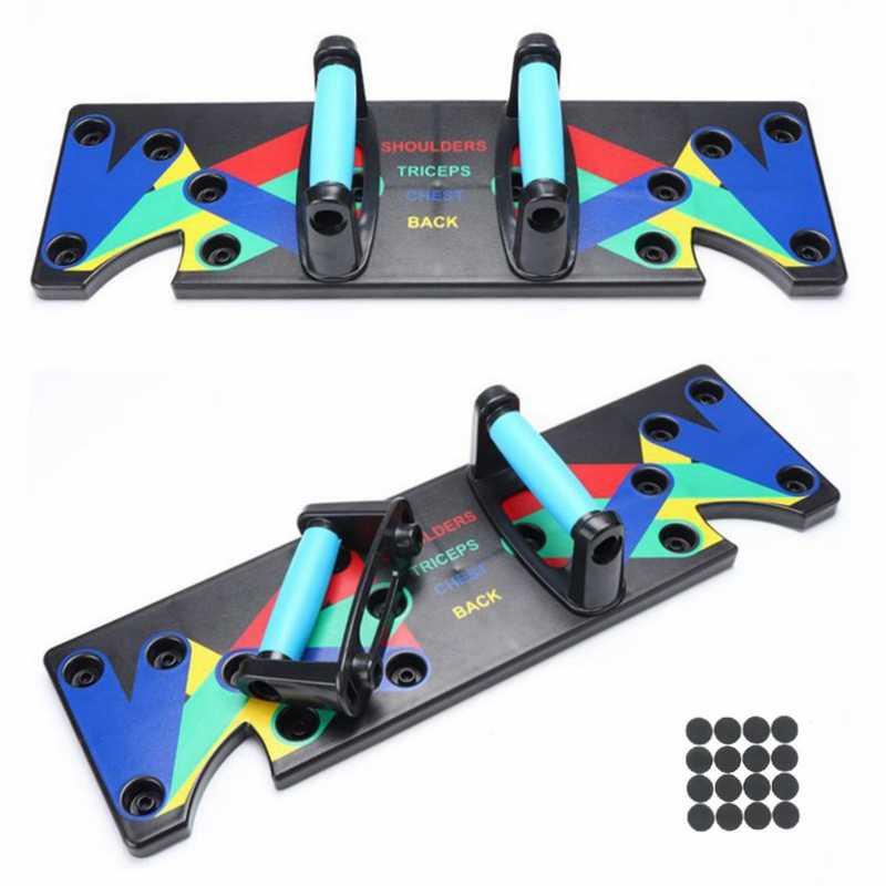 9 In 1 Push Up Rack Board Mannen Vrouwen Uitgebreide Fitness Oefening Push-Up Stands Voor Gym Body Training Thuis Fitness apparatuur