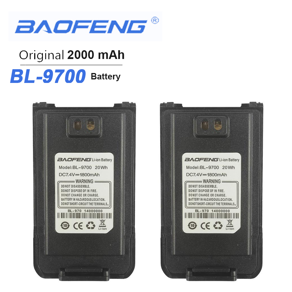 2PCS New Baofeng Waterproof BF-9700 Battery Walkie Talkie Batteries For UV-9R Plus BF-A58 UV-8Plus BF-R6 UV960 S56MAX 9RSR Radio