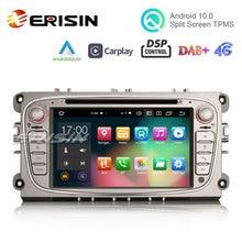 "Erisin – autoradio 7 "", Android 8109, 8 cœurs, navigation GPS, DAB +, WiFi, BT, OBD2, Canbus, DSP, stéréo, CarPlay, pour voiture Ford Mondeo Focus C/s max Galaxy, 10.0"