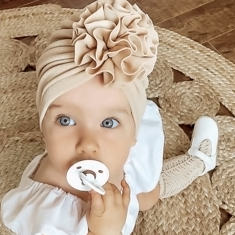 Lovely Flower Baby Hat Soft Baby Girl Hat Turban Spring Infant Toddler Newborn Baby Cap Bonnet Headwraps Kids Hat Beanies