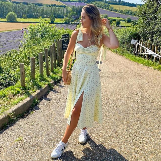 Floral Dress Sleeveless Strap Robe Longue Maxi For Women Femme Vestido De La Correa Lange Mouw Jurk Manga Fleurie Sundresses 6