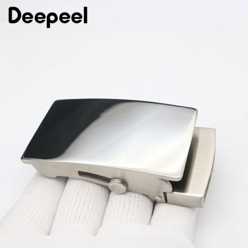 Deepeel 1pc 36mm/39mm Men's Stainless Steel Belt Buckle Roller Toothless Automatic Buckle Head DIY Casual Luxury Belt Accessory