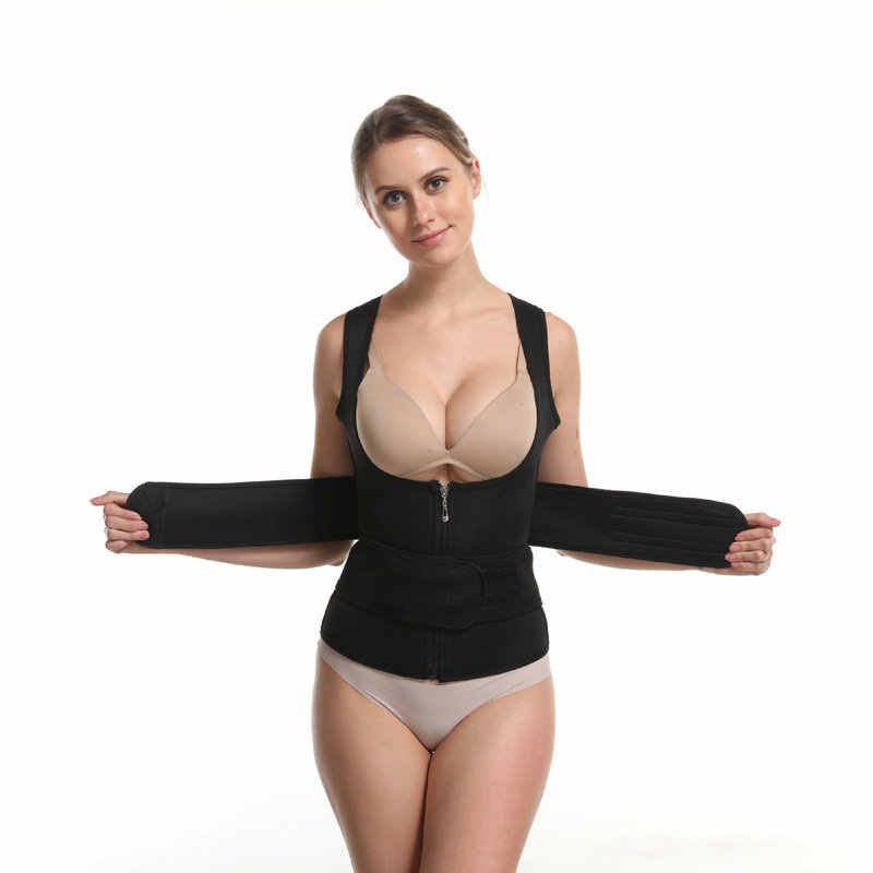 Neopreen Taille Trainer Hot Sauna Body Shapers Vrouwen Afslanken Werken Shapewear Klittenband Underbust Taille Cinchers Tummy Fat Verlies