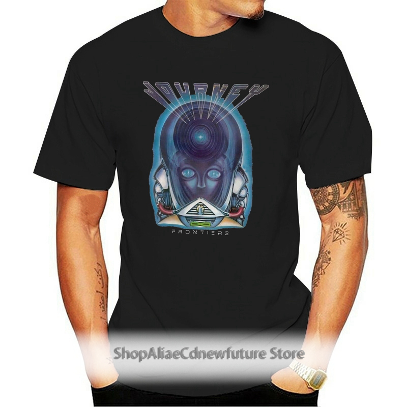 Mens Journey Frontiers Tour 1983 Music Band T Shirt Aid Tshirts Gift