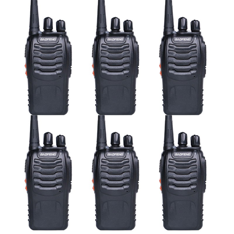 6pcs Walkie Talkie Baofeng Bf-888s UHF 400-470MHz 16CH Baofeng Bf 888s Radio Station Transceiver With Earphone