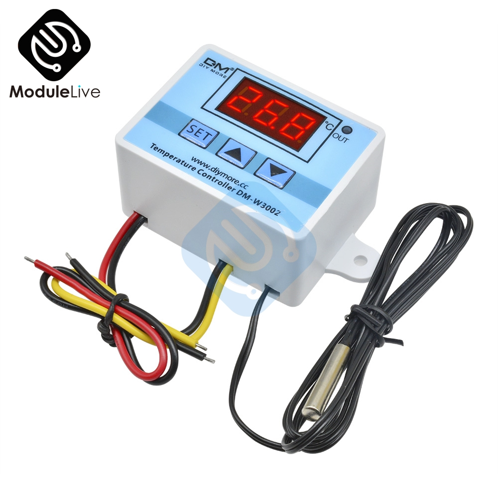 W3002 110V 220V LED Digital Temperature Controller Thermos Thermoregulator Sensor Meter Heating Cooling+1m 10k 3950 Wire
