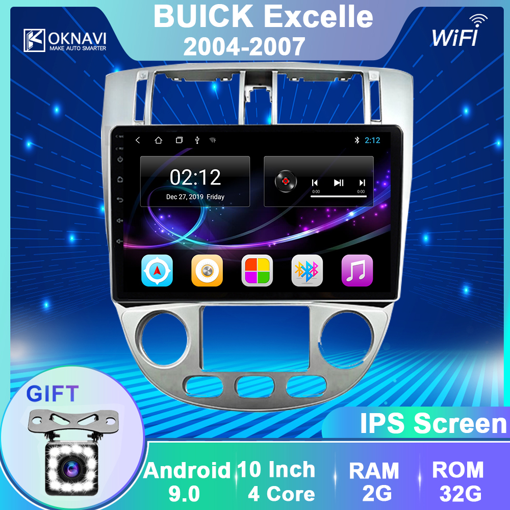 OKNAVI Android 9.0 Radio For Chevrolet Lacetti J200 BUICK Excelle Hrv 2004-2013 Car Radio Multimedia Video Player Navigation GPS