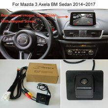 Yeshibation HD камера заднего вида для Mazda 3 Axela BM Sedan 2013~-RCA и экран совместимы