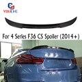 F36 задний спойлер из углеродного волокна крыло CS Стиль для BMW 4 серии 4-двери седан 2014-настоящее 420i 428i 430i