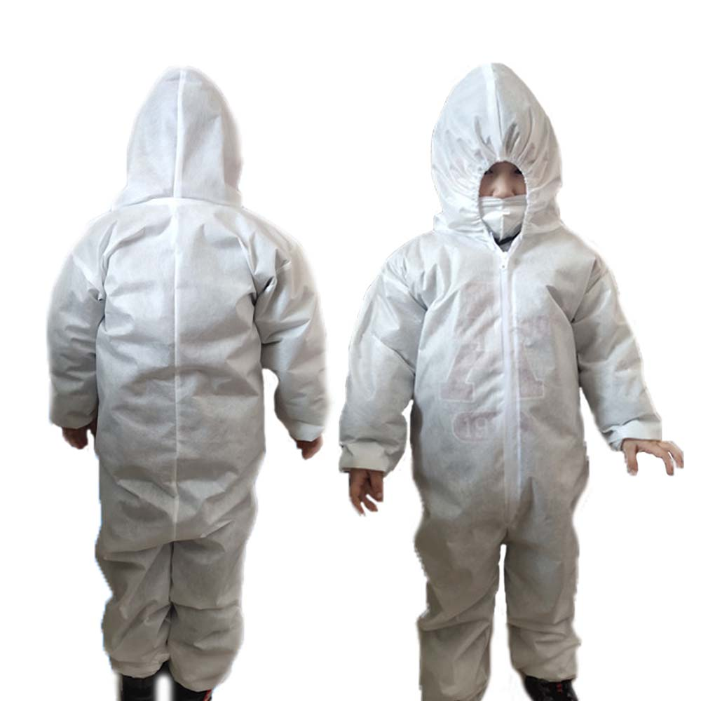 Non-Disposable Baby Kids Children Protective Clothing Child Siamese With Cap Antistatic Waterproof Isolation Protective Suit